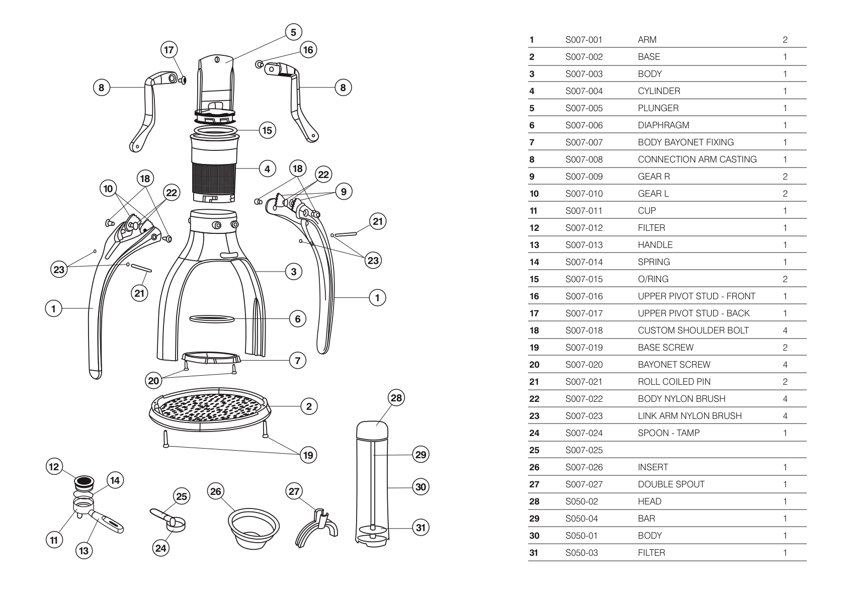 Rok Espresso Maker  Diagrams And Manuals