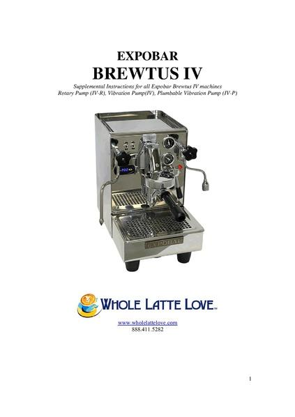 File:BREWTUS IV Machine Manual.pdf - Whole Latte Love Support Library
