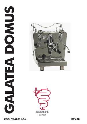 Bezzera Galatea Domus/diagrams and manuals - Whole Latte