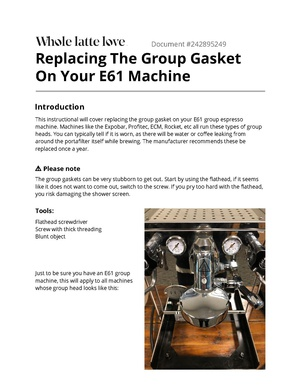 Replacing The Group Gasket On Your E61 Machine.pdf