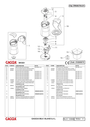 gaggia classic parts diagram pdf