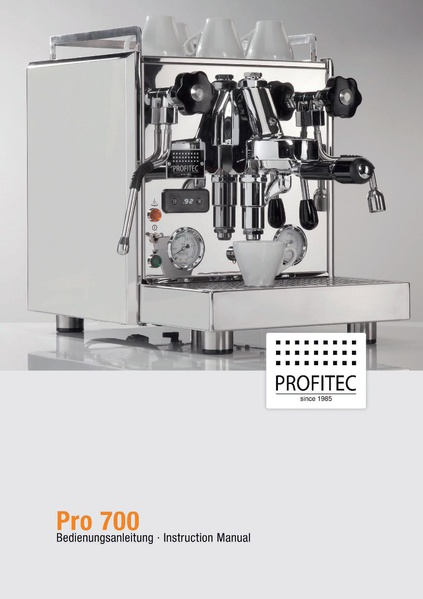 File:PRO 700 Machine Manual.pdf - Whole Latte Love Support Library
