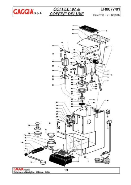 File:Gaggia Coffee Deluxe Diagram.pdf - Whole Latte Love Support ...