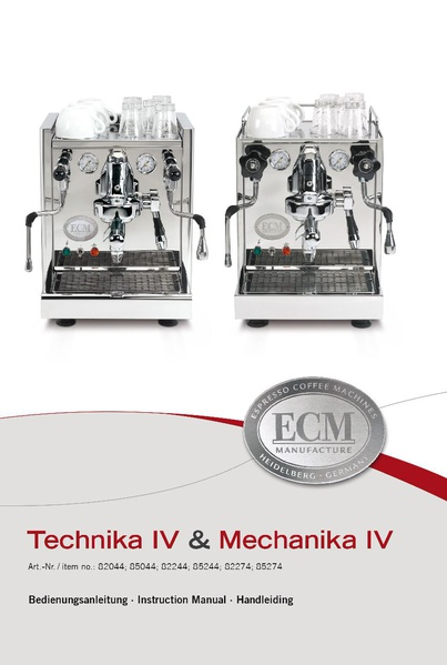 File:TECHNIKA IV PROFI Machine Manual.pdf - Whole Latte Love ...