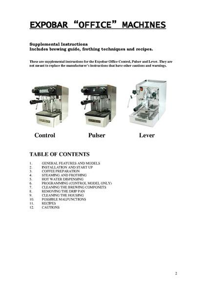 File:OFFICE LEVER Machine Manual pdf - Whole Latte Love