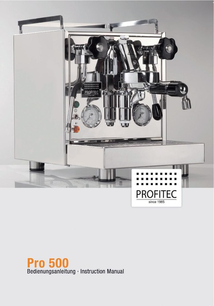 File:PRO 500 Machine Manual.pdf - Whole Latte Love Support Library