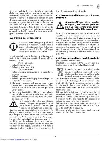 File:Bezzera-BZ10-User-Manual.pdf - Whole Latte Love Support Library