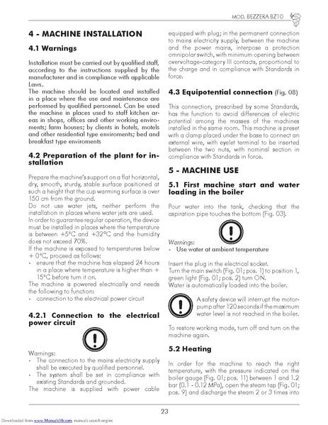 File:Bezzera-BZ10-User-Manual pdf - Whole Latte Love Support