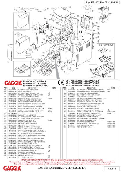 File:Gaggia Cadorna Plus Parts Diagram.pdf - Whole Latte Love ...