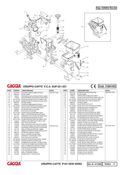 File TITANIUM OFFICE Brew Unit    Parts       Diagram   pdf  Whole